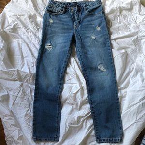 Gap Girls Distressed Girlfriend Jeans